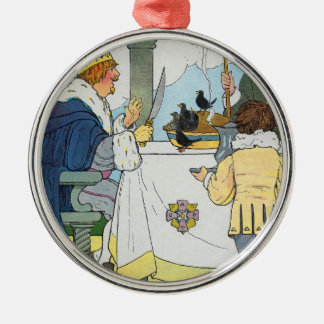 Sing a song of sixpence, A pocket full of rye Metal Ornament
