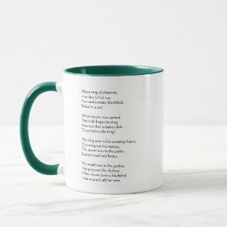 Sing a song of sixpence, A pocket full of rye Mug