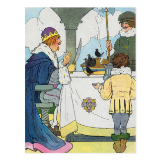 Sing a song of sixpence, A pocket full of rye Postcard