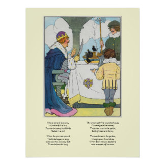 Sing a song of sixpence, A pocket full of rye Poster