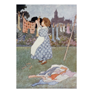 Sing a Song of Sixpence by Charles Robinson Poster