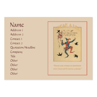 Sing a Song of Sixpence Chubby Business Card