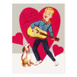Sing along and be my Valentine Postcard