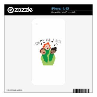 Sing and Praise Decals For iPhone 4S
