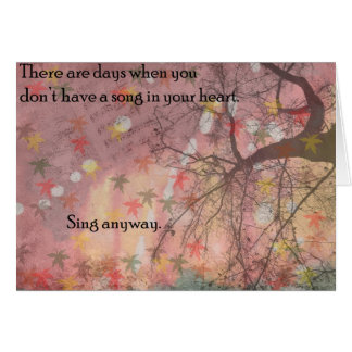Sing Anyway Card