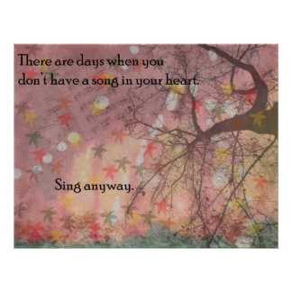 Sing Anyway Poster