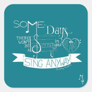 """""""Sing Anyway"""" Sticker Sheet - Teal"""