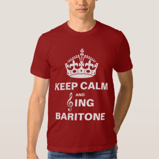 Sing Baritone T Shirt