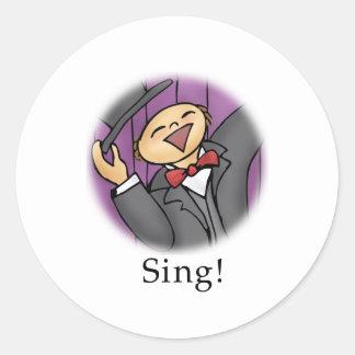 Sing! Classic Round Sticker