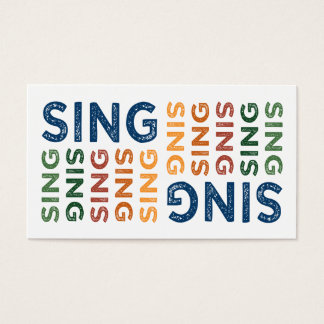 Sing Cute Colorful Business Card