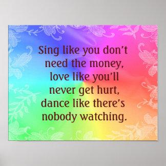 Sing Dance Love -- Art Print