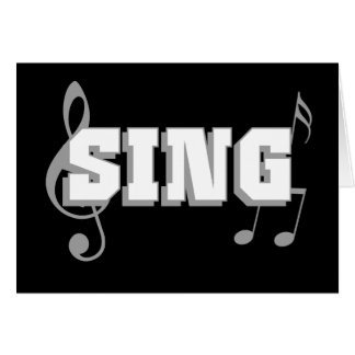 Sing Design with music notes