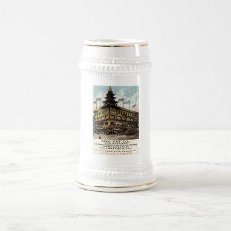Sing Fat Chinatown San Francisco 1915 vintage Beer Stein