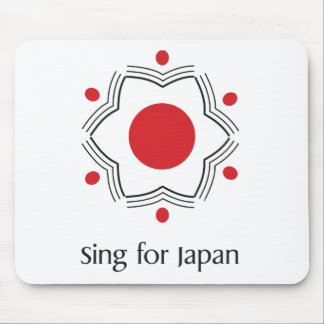 Sing for Japan - logo merchandise Mouse Pad