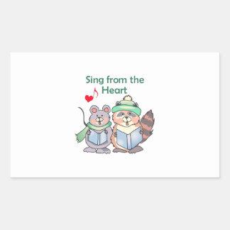 SING FROM THE HEART RECTANGULAR STICKER