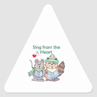 SING FROM THE HEART TRIANGLE STICKER