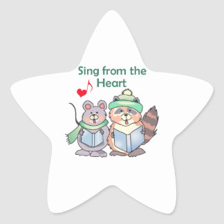 SING FROM THE HEART STAR STICKER