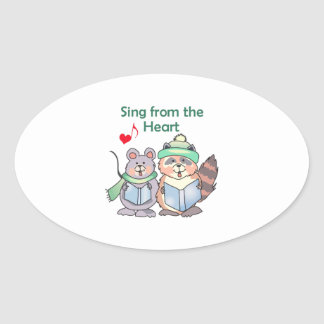 SING FROM THE HEART OVAL STICKER