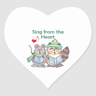 SING FROM THE HEART HEART STICKER