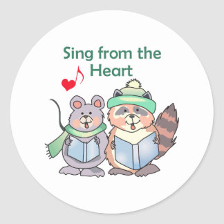 SING FROM THE HEART ROUND STICKER