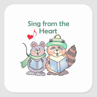 SING FROM THE HEART SQUARE STICKER