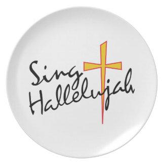 Sing Hallelujah Melamine Plate
