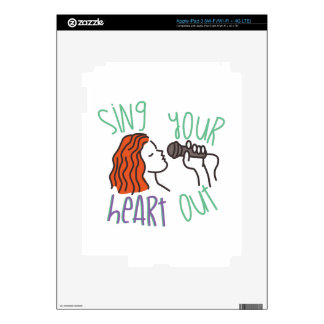 Sing & Heart Out iPad 3 Decal