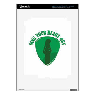 Sing Heart Out iPad 3 Decals
