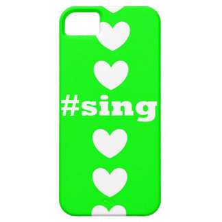 """""""SING HEARTS"""" Green and White IPhone Case"""