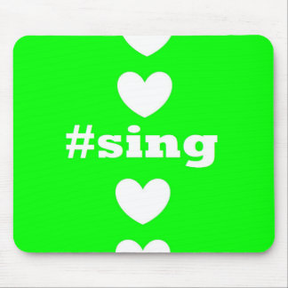 """SING HEARTS"" Green Mousepad"