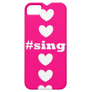 """""""SING HEARTS"""" Pink and White IPhone 5/5S Case"""