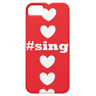 """""""SING HEARTS"""" Red and White IPhone 5/5S Case"""