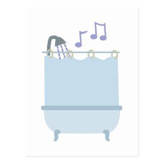 Sing In Shower Postcard