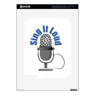 Sing It Loud iPad 3 Skins