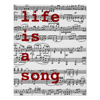 sing / life is a song poster