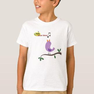 Sing like a bird at cnote music school kids shirt