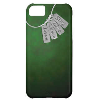 Sing, Live, Dance and Love on Green Smoke iPhone 5C Cover