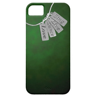 Sing, Live, Dance and Love on Green Smoke iPhone SE/5/5s Case