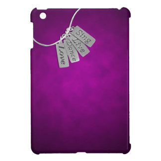 Sing, Live, Dance and Love on Purple Smoke Case For The iPad Mini