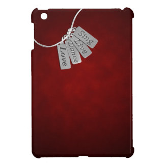 Sing, Live, Dance and Love on Red Smoke iPad Mini Cover