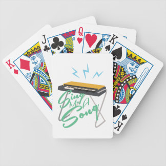 Sing Me A Song Bicycle Playing Cards