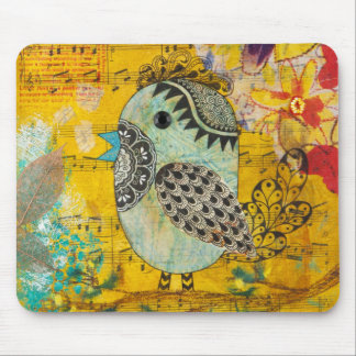 SING Mixed Media Collage Mouse Pads