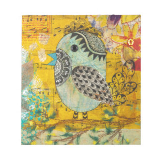 SING Mixed Media Collage Notepad