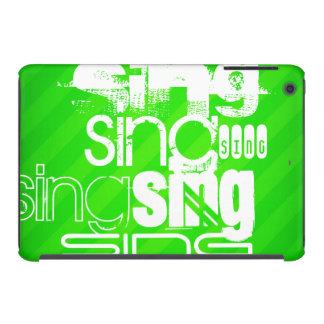Sing; Neon Green Stripes iPad Mini Covers