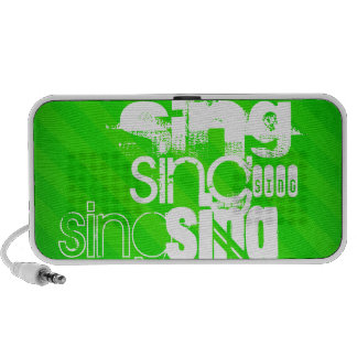 Sing; Neon Green Stripes Mp3 Speakers