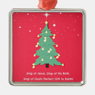 Sing of Jesus, Sing of His birth... Metal Ornament