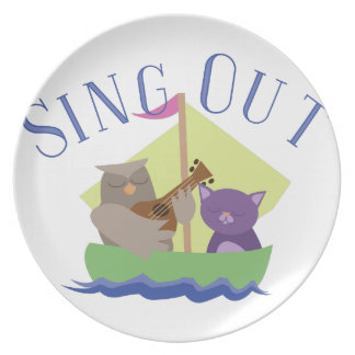 Sing Out Dinner Plate