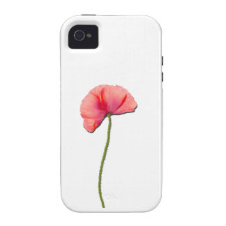 Sing red poppy flower minimalist simplicity iPhone 4 covers