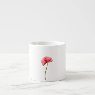 Sing red poppy flower minimalist simplicity espresso cup