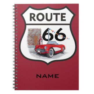 Sing route 66 gifts spiral notebook